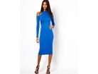 74)  Prelepa plava dugacka haljina ( VISE BOJA )