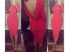 76)     Crvena dugacka haljina ( VISE BOJA )