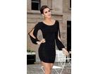 83) Crna prelepa haljina sa otvorenim rukavima