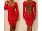 90)     Crvena sexy haljinica ( VISE BOJA )