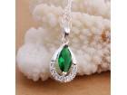 925 ogrlica U predivnoj zelenoj boji I ogrlica i privez