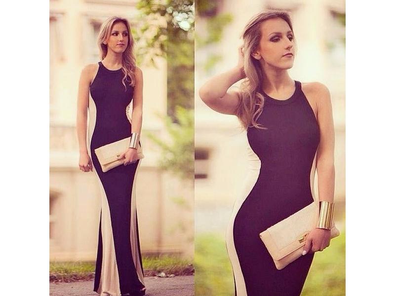 94)  Bozanstvena dvobojna dugacka haljina