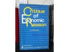 A Critique of Economic Reason - Kenneth M. Stokes