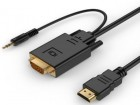 A-HDMI-VGA-03-10 Gembird HDMI to VGA and audio adapter cable, single port, 3m, black