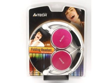 A4-L-600-5 ** A4Tech Preklopne slusalice sa mikrofonom, 3,5mm, RED (579)
