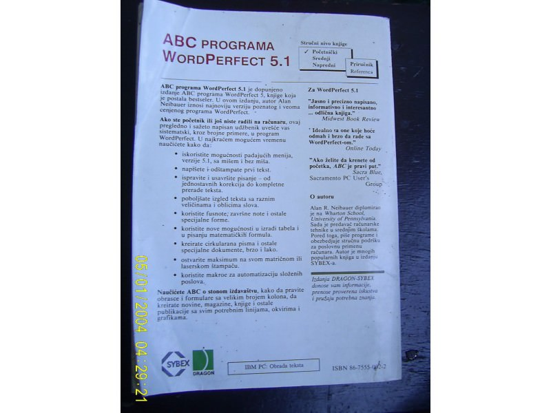 ABC programa WordPerfect
