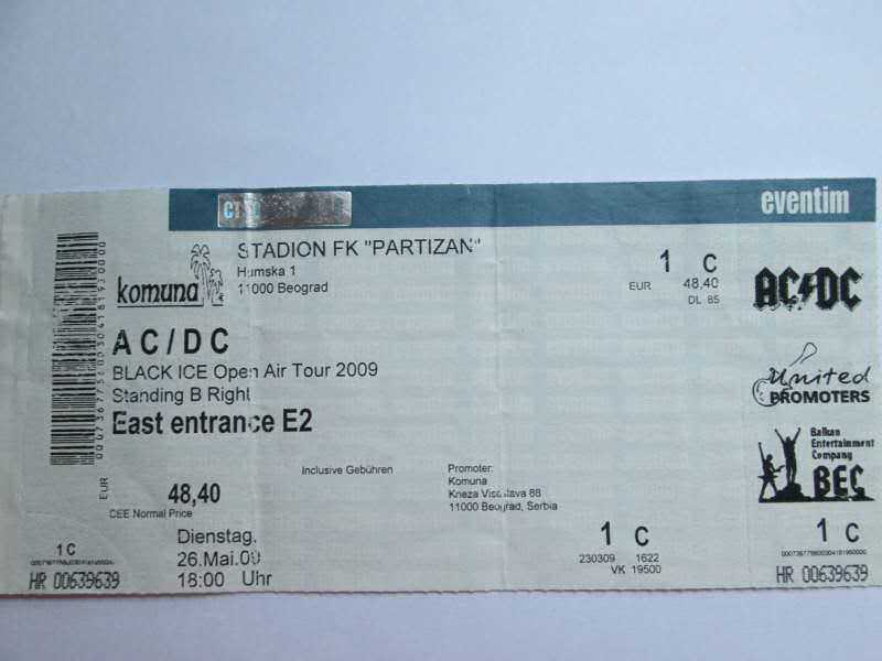 AC/DC     Black Ice Tour