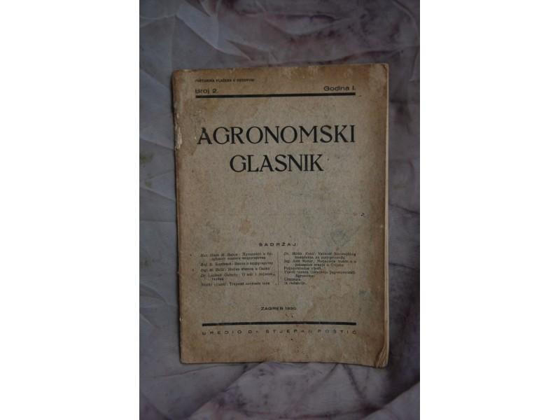 AGRONOMSKI GLASNIK IZ 1930 godine
