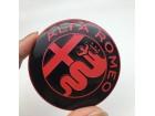 ALFA ROMEO znak - 74 mm - CRNO-CRVENI aluminijumski