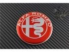 ALFA ROMEO znak  74mm - CRVENI - aluminijum