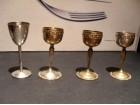 ART DEKO čašice za rakiju SILVER Plated