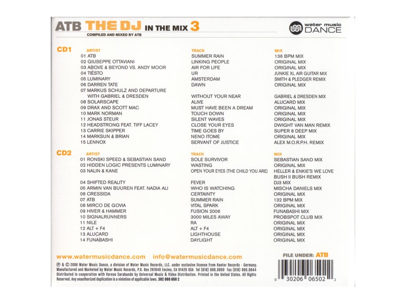 ATB - The DJ In The Mix 3