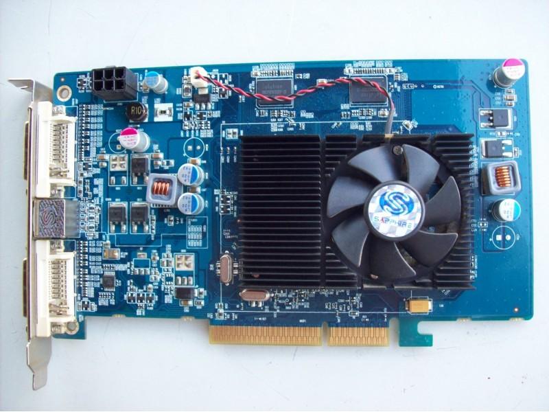 ATI Sapphire 4650 agp 1Gb ddr2 -128 bita