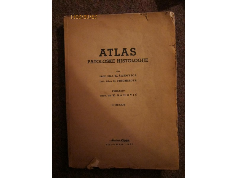 ATLAS PATOLOSKE HISTOLOGIJE   prof.dr.Sahovic,Tihomirov
