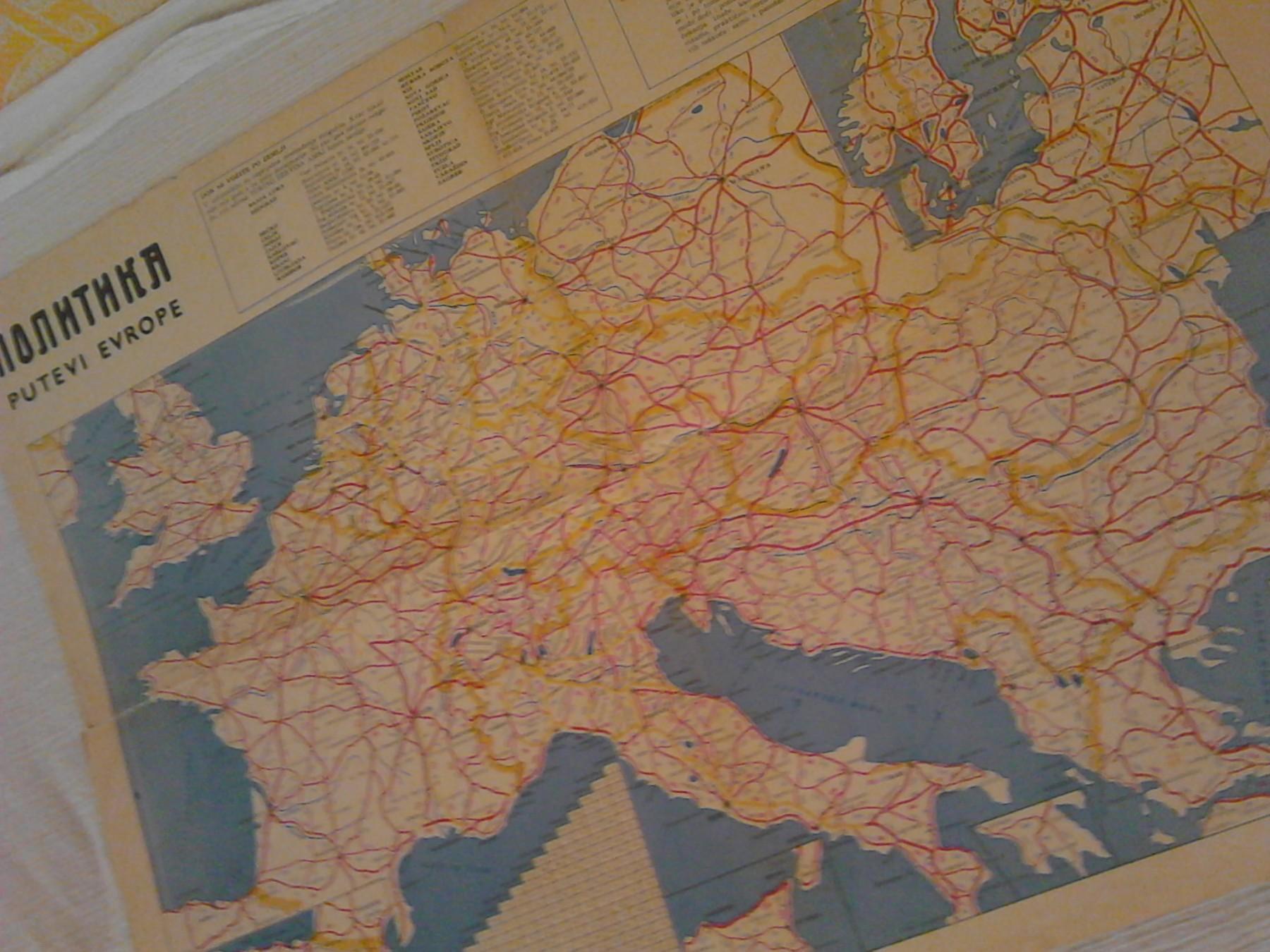 Auto Karta Putevi Evrope Kupindo Com 51430321