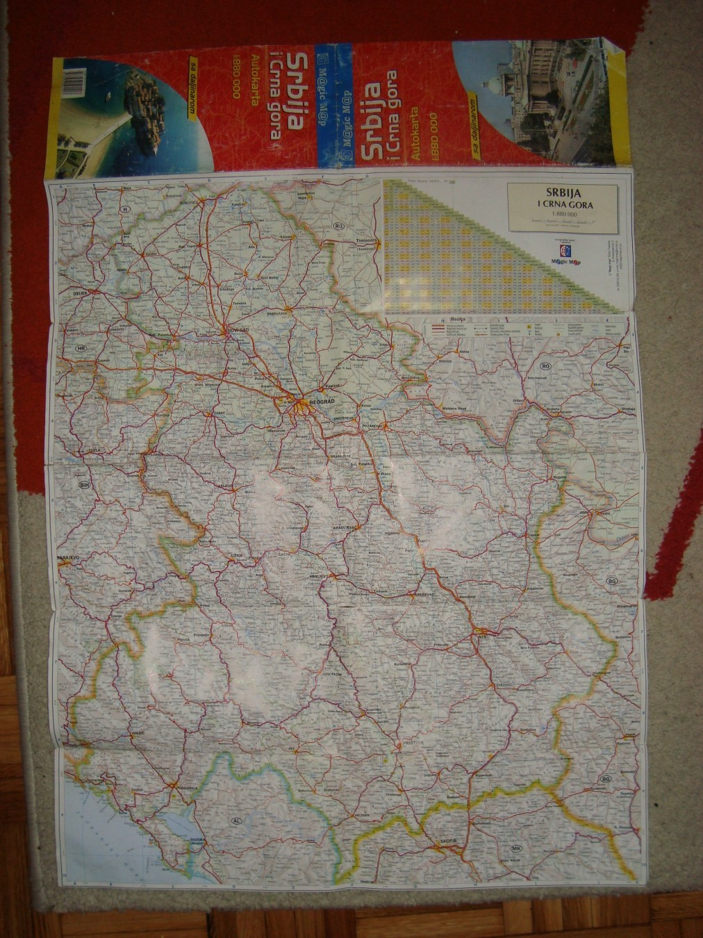Auto Karta Srbija I Crna Gora Sa Daljinarom 1 880000 Kupindo