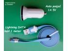 AUTO PUNJAČ + Lightning USB kabl za iPhone5 iPad