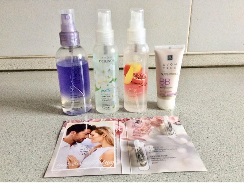 AVON BB cream anti aging,ulje i 2 spreja za telo+poklon