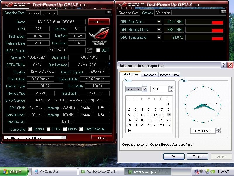 Agp graficka ASUS Ge Force 7600 GS/256 mb ddr2! Silent!