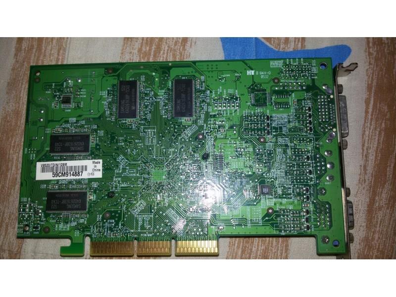 Agp graficka ASUS V 9520 TD / 128 mb (Ge Force 5200)!