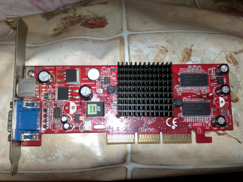 Agp graficka MSI Ge Force 5200 / 128 mb!