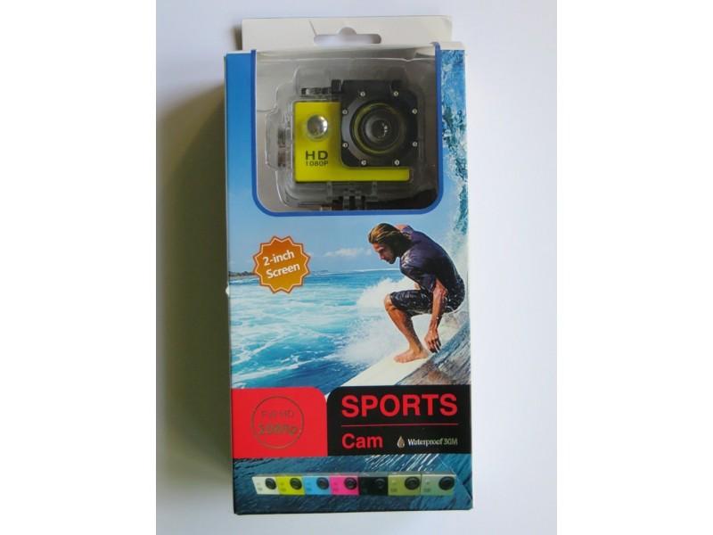 Akciona kamera 1080p, auto kamera ŽUTA