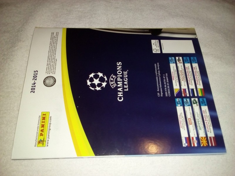 Album Panini Champions league 2014/2015 prazan