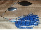 Alpha Fish spinner bait - duble spin - blue dress 17g
