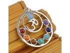 Amajlija zdravlja, privezak čakra 7 kamena raznih boja