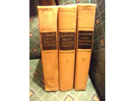 Anatomski atlas čoveka I,II,III, Sinelnjikov Sinelnikov