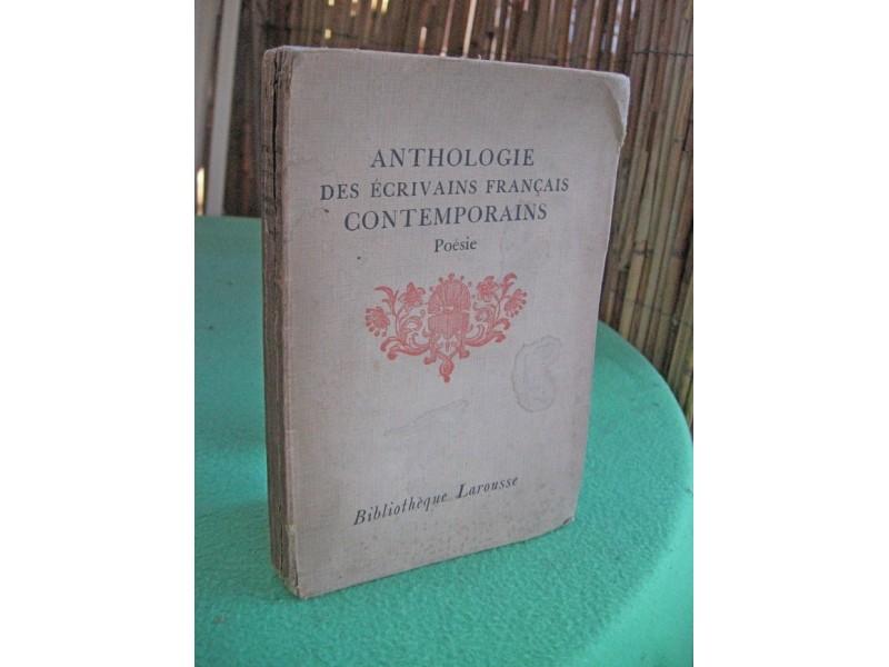 Anthologie Des Ecrivains Francais Contemporains: Poesie