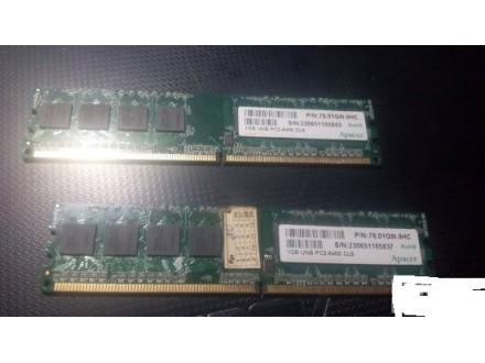 Apacer 2X1Gb 800mh ddr2 memorije