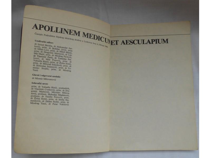 Apollinem medicum et aesculapium