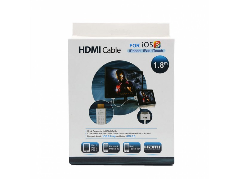 Apple Dock station connector to HDMI cable