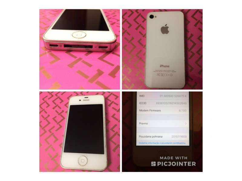 Apple Iphone 4S 16GB WHITE A1387