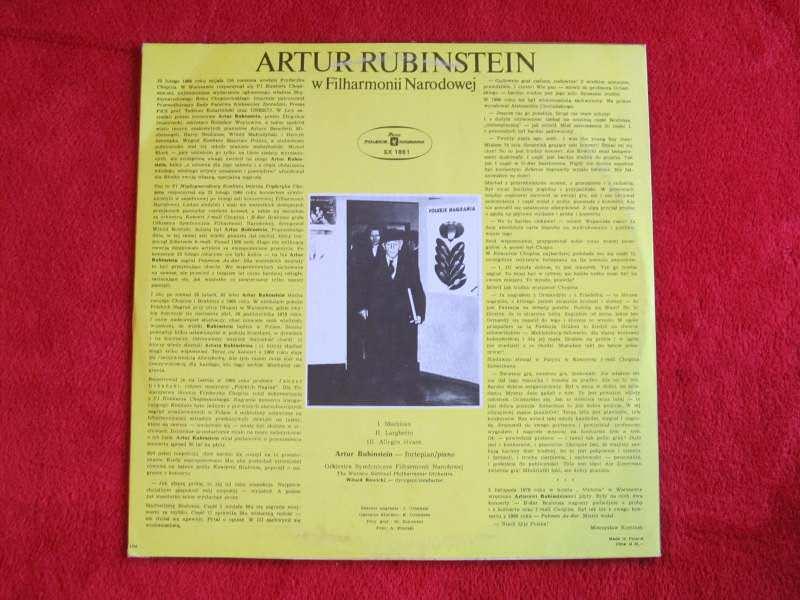 Arthur Rubinstein - Artur Rubinstein W Filharmonii Narodowej