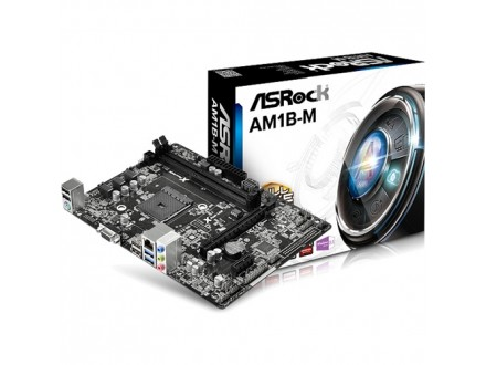 Asrock AMD AM1 AM1B-M , 2 x DDR3, GLAN, 2 x USB3.0, VGA, mATX