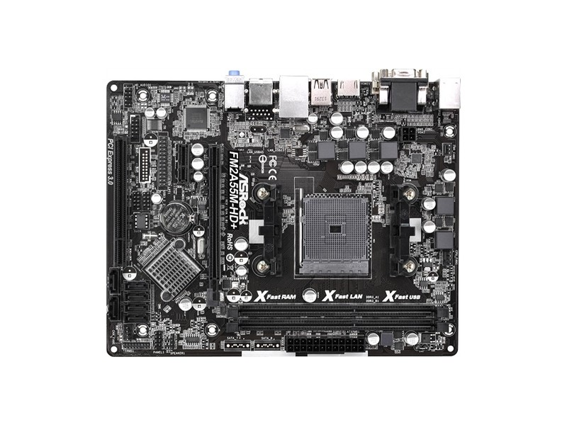 Asrock AMD FM2/FM2+ FM2A55M-HD+ , DDR3 2133, GLAN, PCI-E 3.0, HDMI, DVI, VGA, mATX