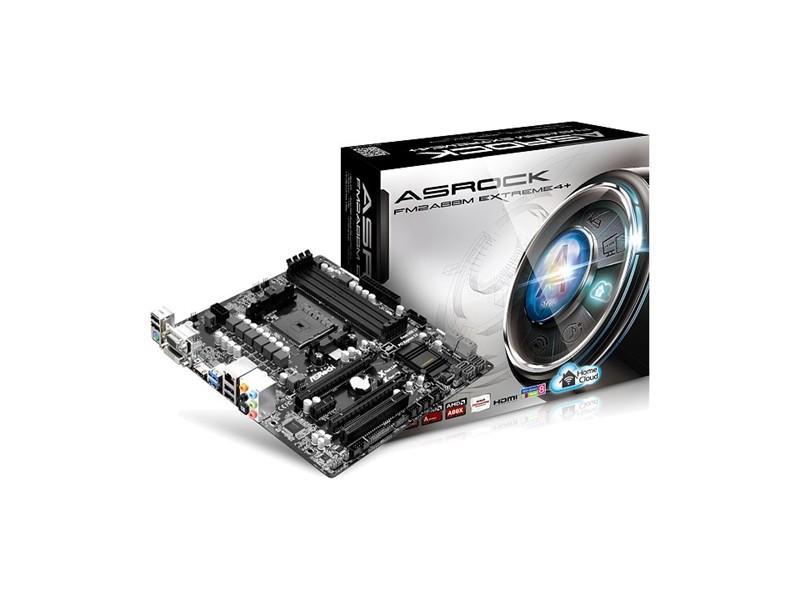 Asrock AMD FM2/FM2+ FM2A88M Extreme4+ , DDR3 2133, GLAN, PCI-E 3.0, USB3.0, HDMI, DVI, VGA, mATX