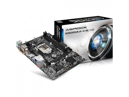 Asrock Intel 1150 B85M-HDS , 2xDDR3, GLAN, PCI-E3.0, 2 x USB3.0, HDMI, DVI, VGA, mATX