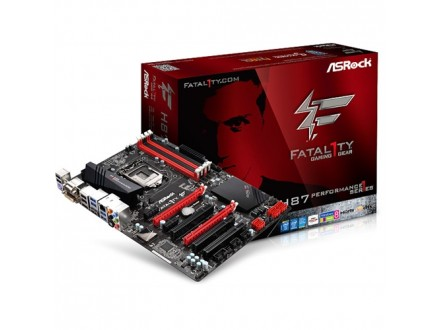 Asrock Intel 1150 Fatal1ty H87 Performance , DDR3 1600, GLAN, PCI-E 3.0, HDMI in+out, DVI, VGA, USB3.0, ATX