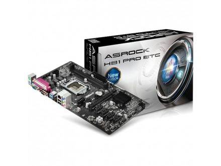 Asrock Intel 1150 H81 Pro BTC ,Bitcoin/Litecoin mining MB,6xPCI-E,2xDDR3,GLAN,USB3.0,VGA,DVI,HDMI,RS232,LPT,ATX
