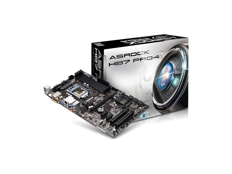 Asrock Intel 1150 H87 Pro4 , 4xDDR3, GLAN, PCI-E3.0, USB3.0, HDMI, DVI, VGA, ATX
