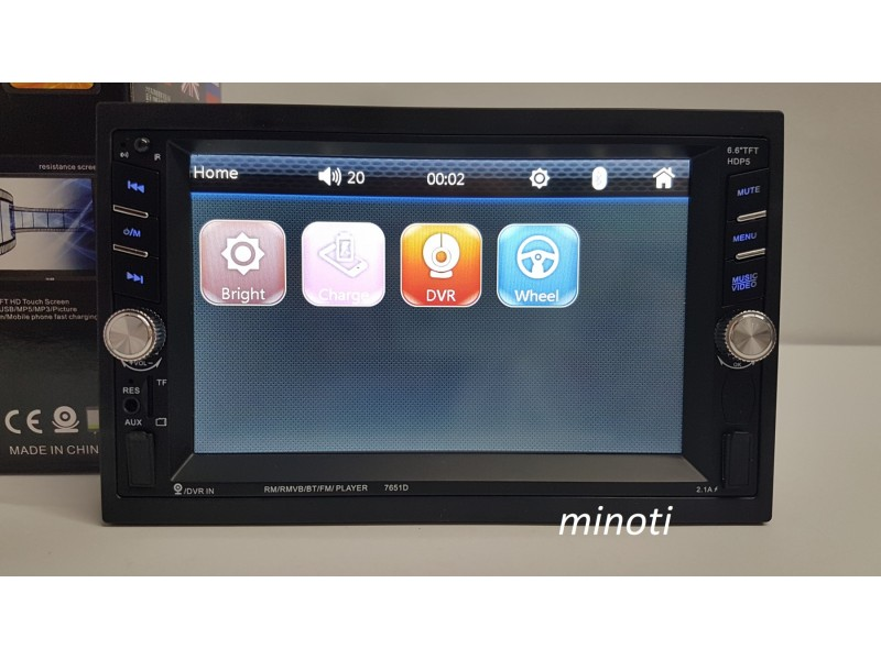 Auto Radio Multimedija Mp3,Usb,Tf, FM Bluetooth
