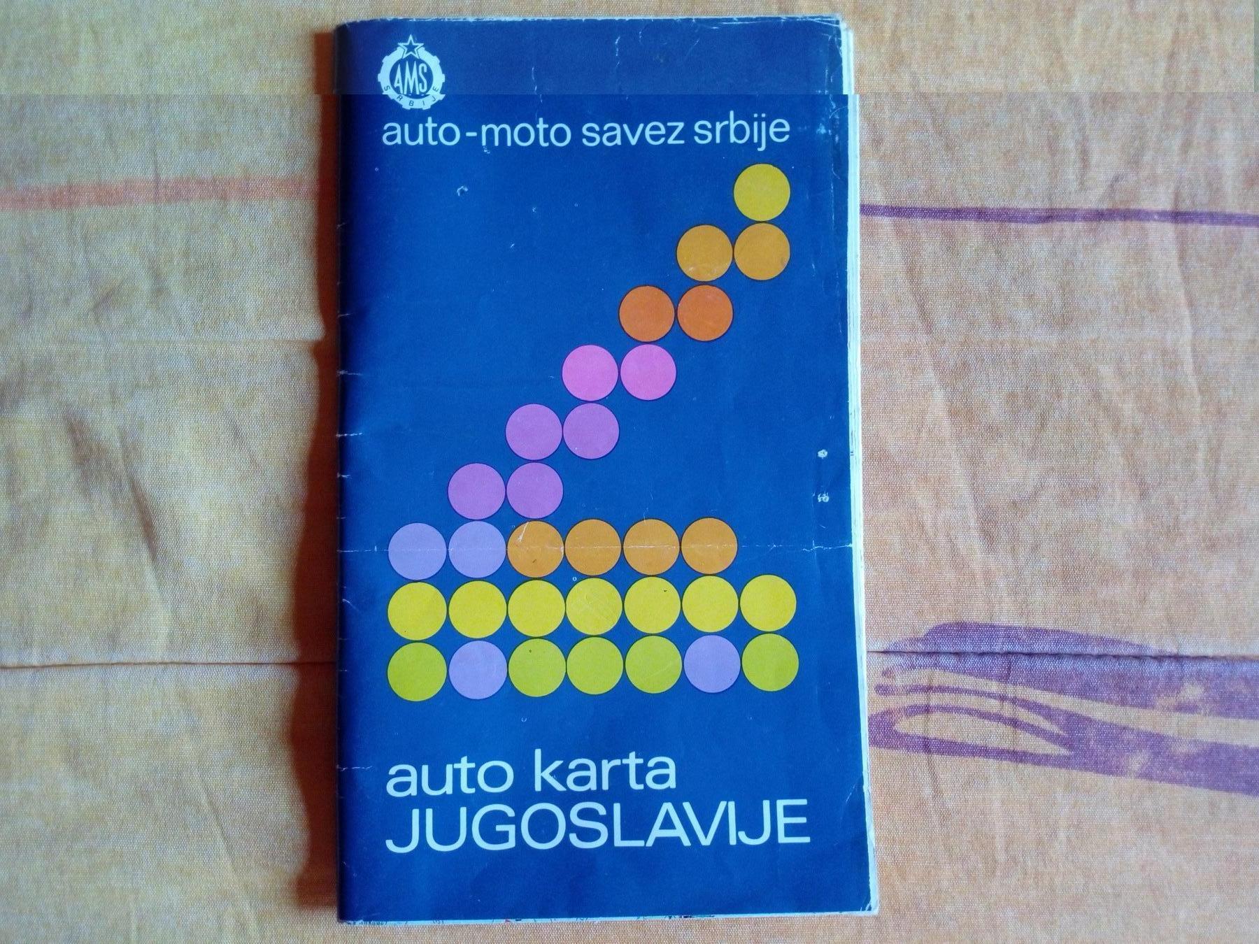 Auto Karta Jugoslavije 1985 Godine Kupindo Com 55827135