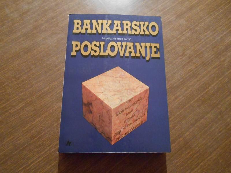 BANKARSKO POSLOVANJE-MOMCILO TOMIC