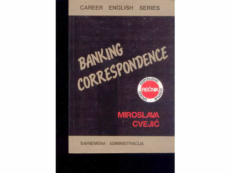 BANKING CORESPONDANCE - M.CVEJIC