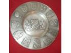 BAYERN stari ukrasni tanjir Massiv Zinn