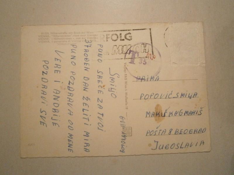 BEČ - PANORAMA; PUTOVALA 1970.GODINE