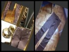 BRAON SATENSKE PANTALONE-velicina S/M-za dame sa stilom